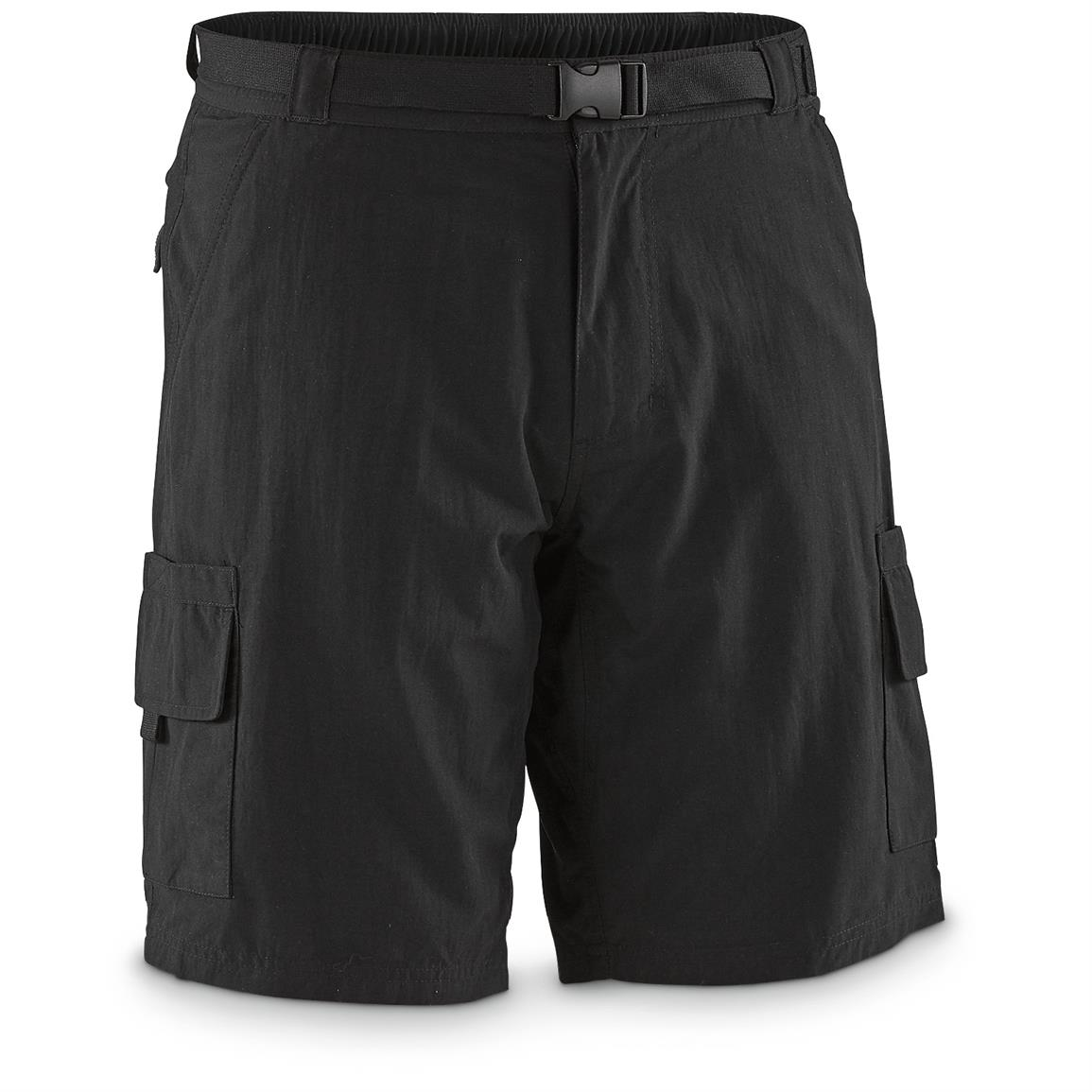 "Guide Gear Men's Cargo River Shorts, 10"" Inseam, Black"