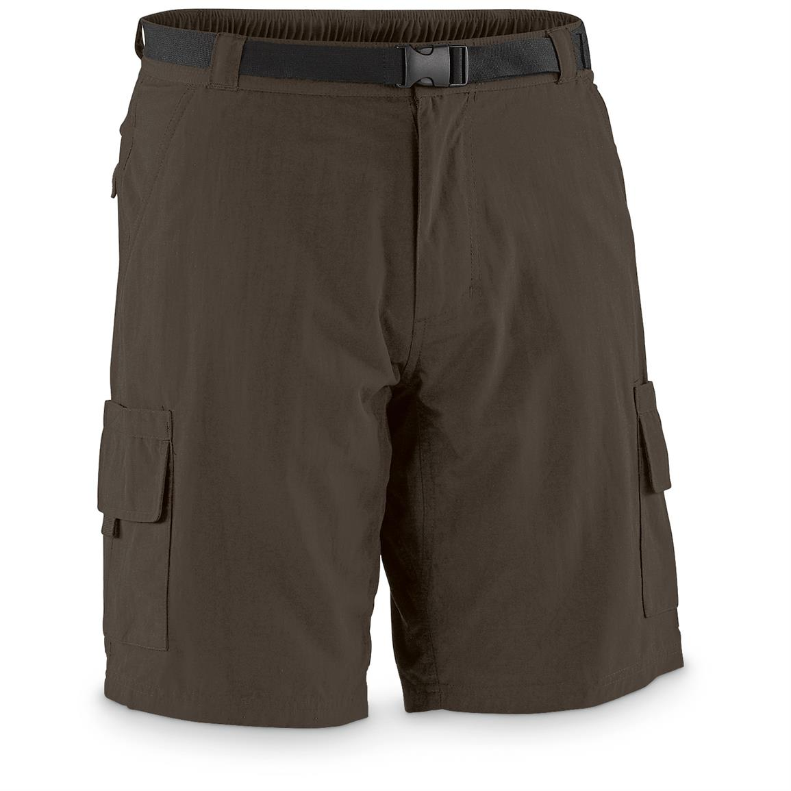 "Guide Gear Men's Cargo River Shorts, 10"" Inseam, Bark"