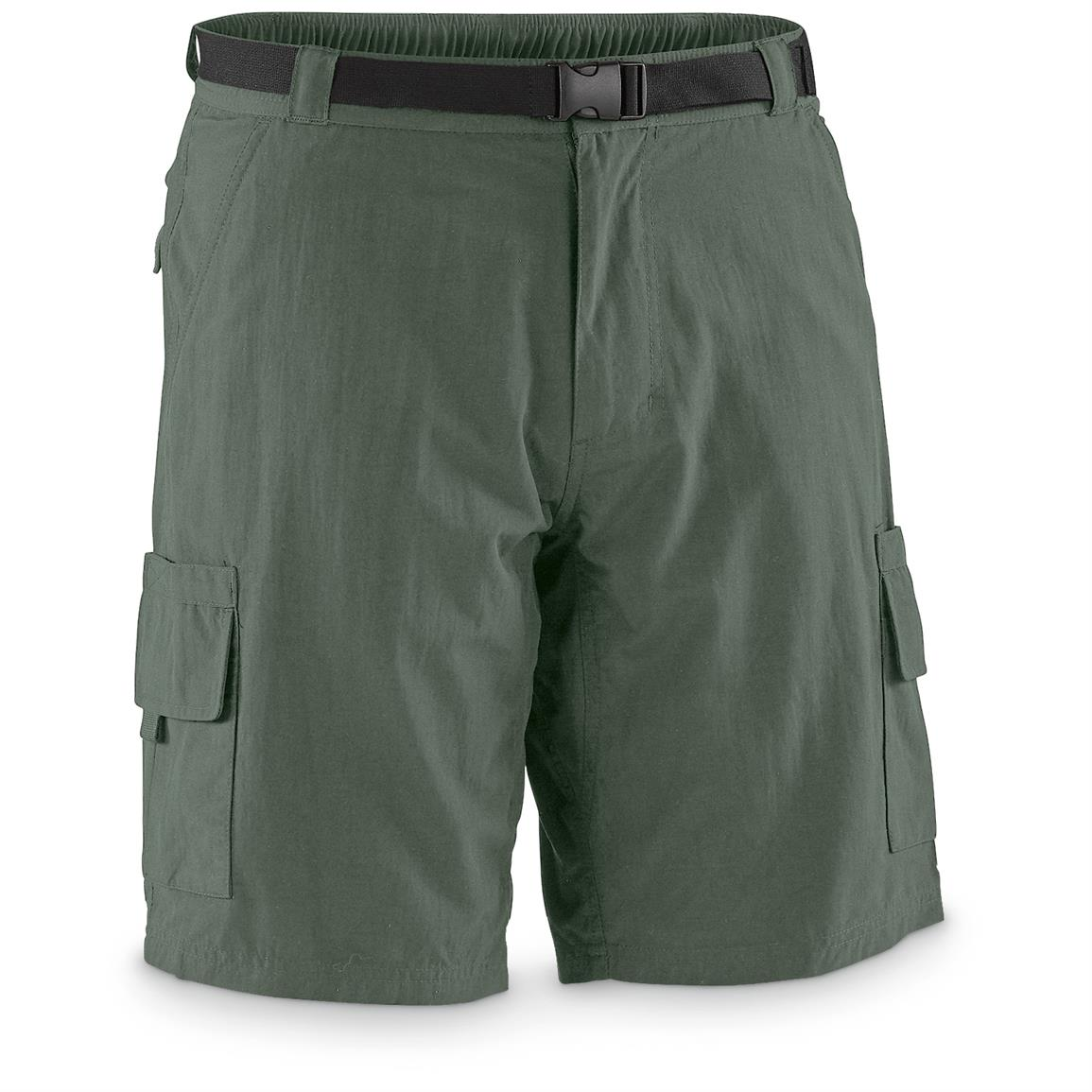"Guide Gear Men's Cargo River Shorts, 10"" Inseam, Sage"
