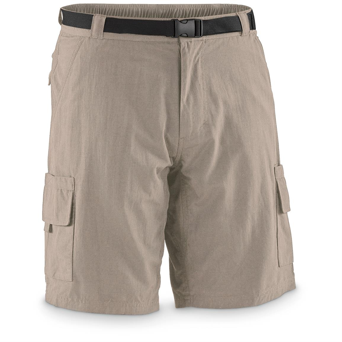 "Guide Gear Men's Cargo River Shorts, 10"" Inseam, Khaki"