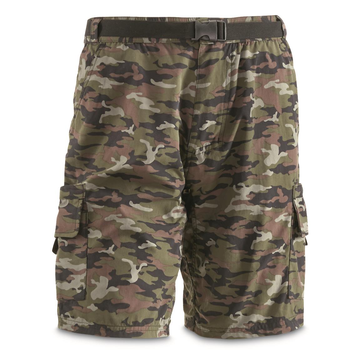 "Guide Gear Men's Cargo River Shorts, 10"" Inseam, Camo"