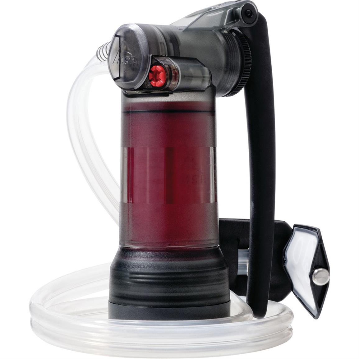 Filters up to 2.5 liters (0.6 gallons) per minute