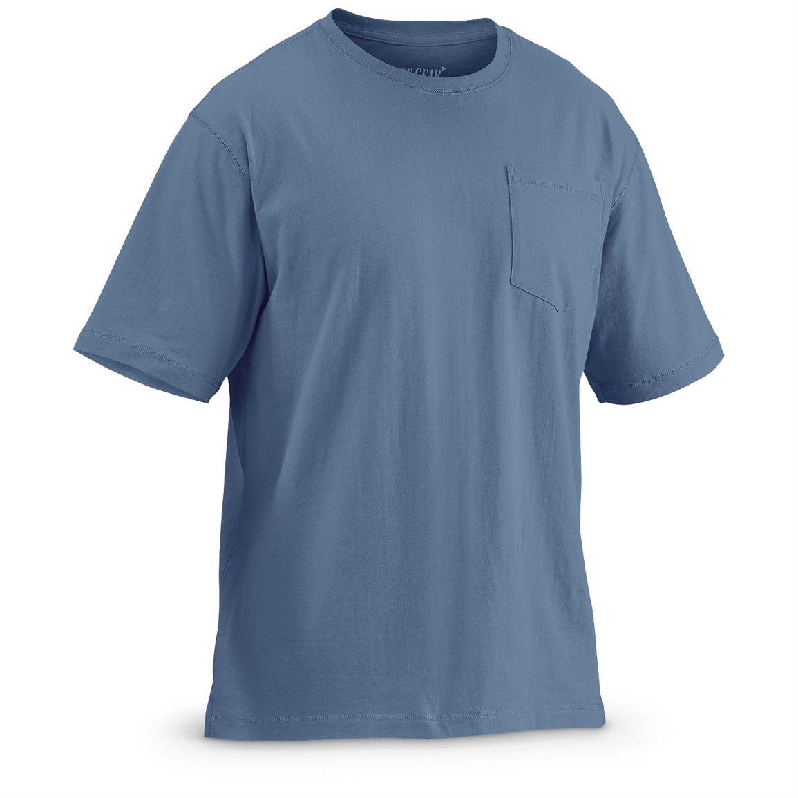 Guide Gear Men's Heavy-Weight Pocket Short-Sleeve T-Shirt, Blue