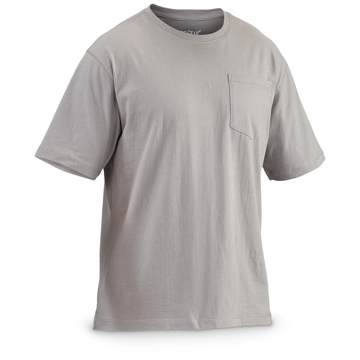 Guide Gear Men's Heavy-Weight Pocket Short-Sleeve T-Shirt, Gray