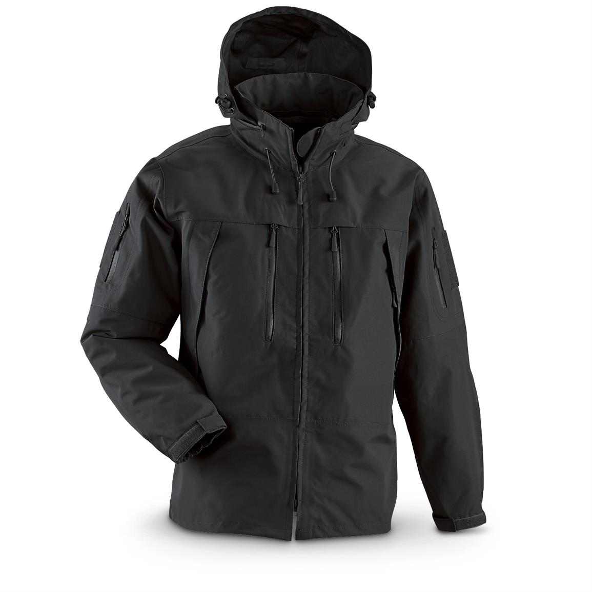 Mil-Tec Military Style Softshell Jacket, Black