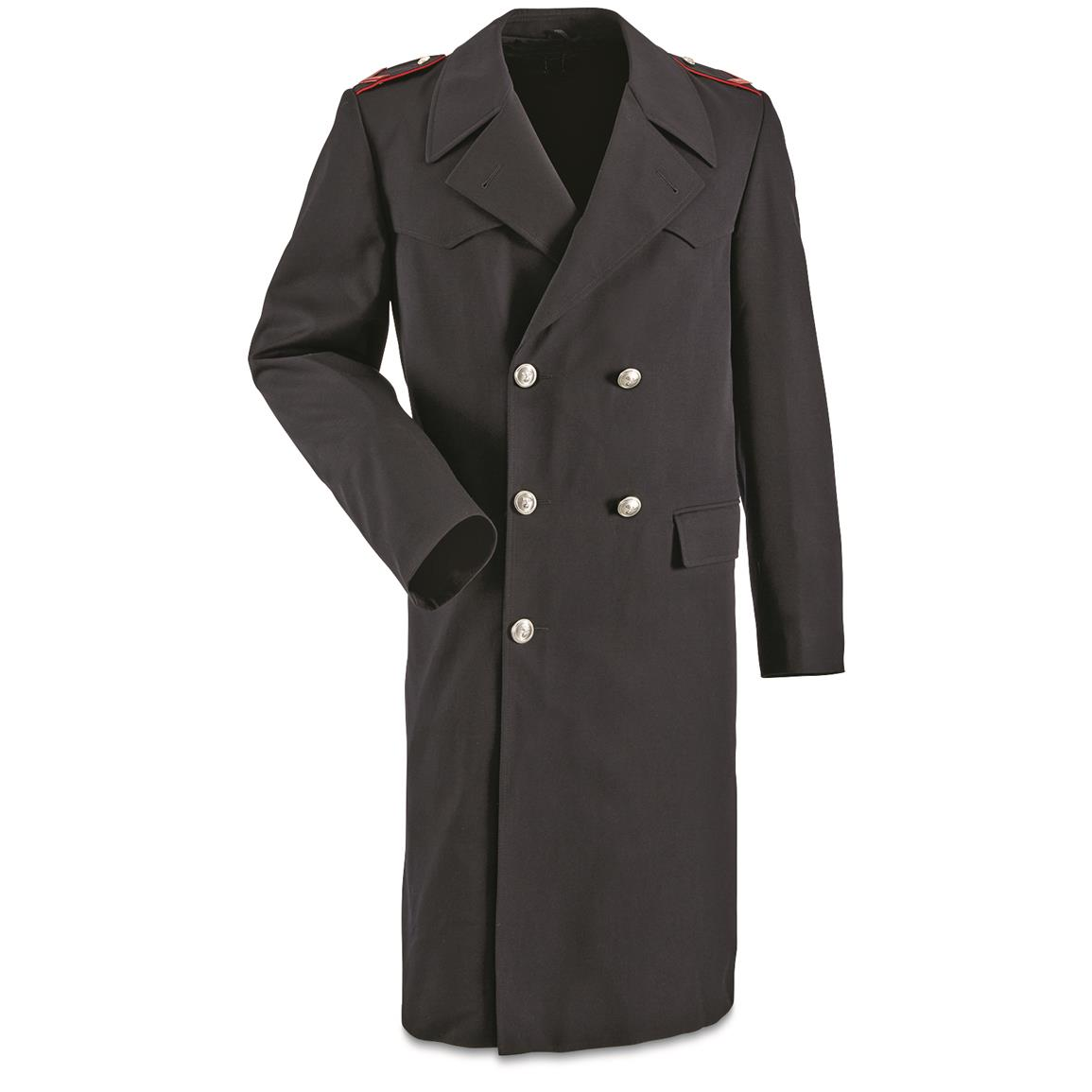Italian Police Surplus Wool Trench Coat with Liner, New