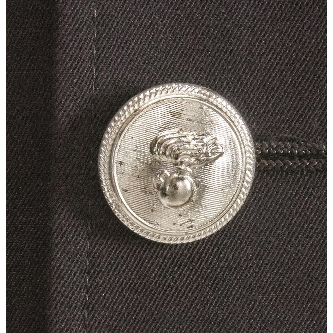 Double breasted with insignia buttons