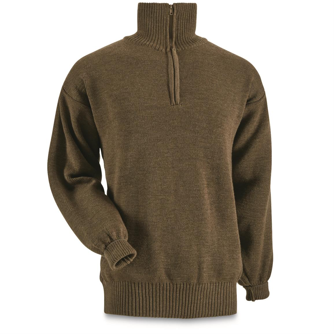 1/4 zip neck pullover design