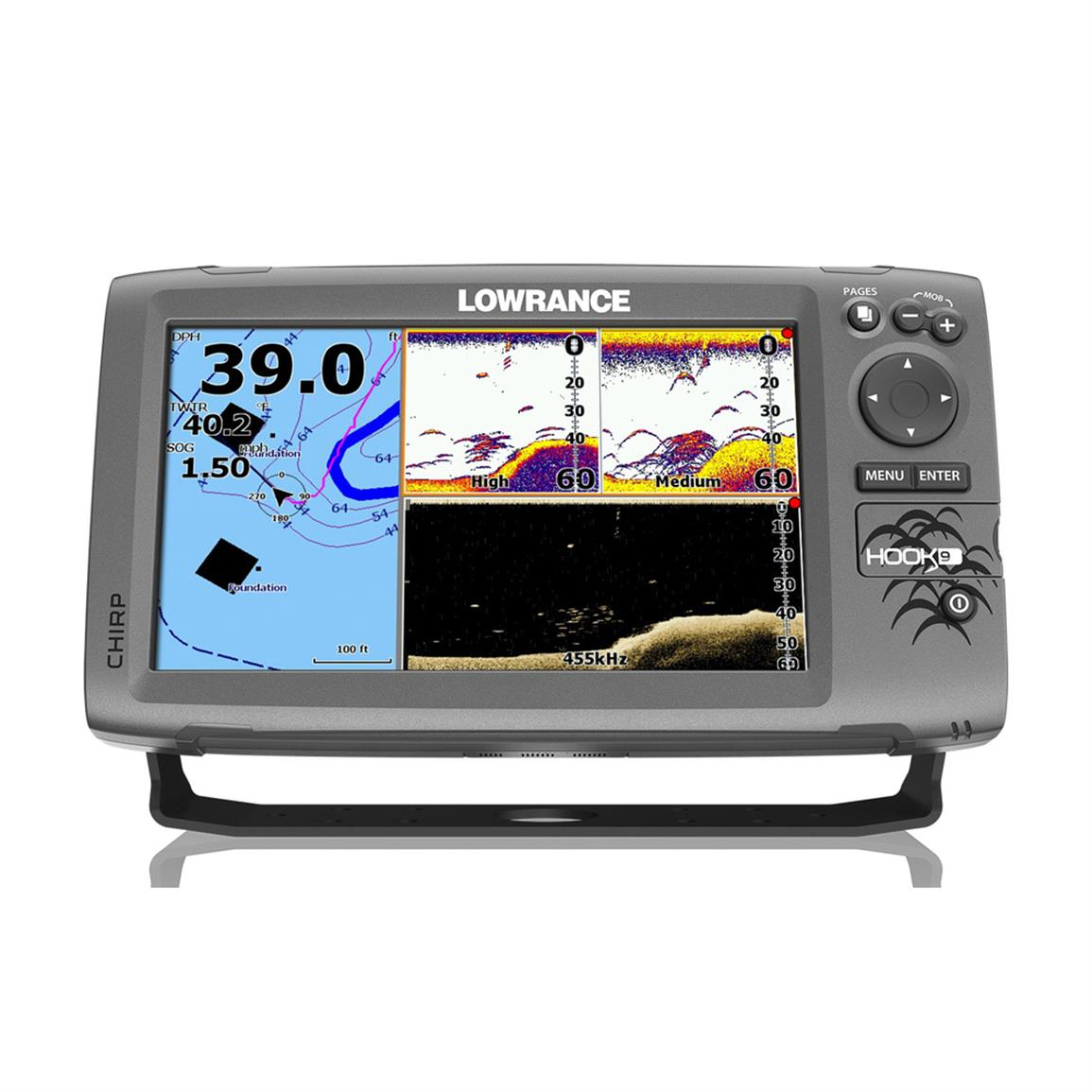 Lowrance Hook-9 Fish Finder / Chartplotter with DownScan Transducer