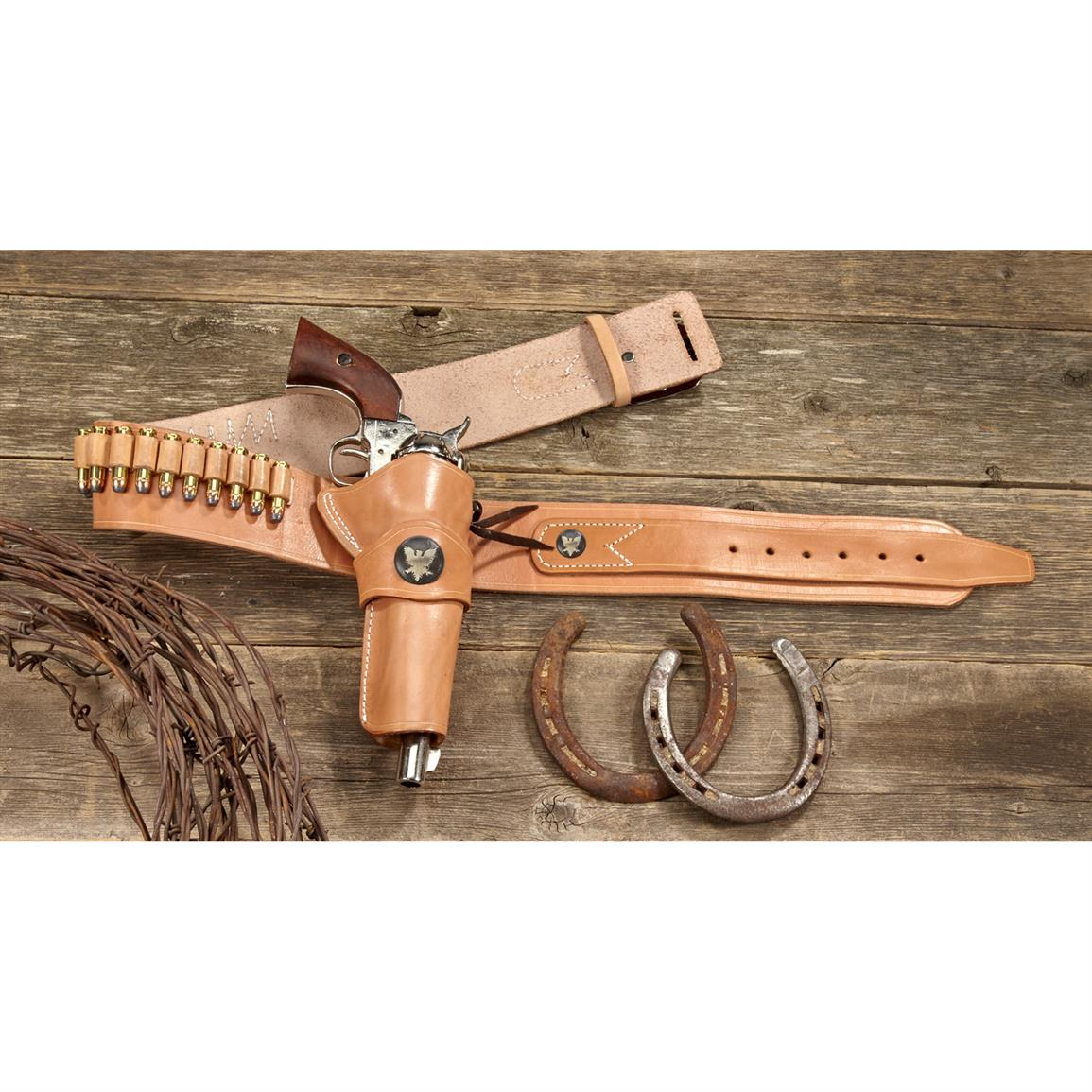 Classic Old West Styles .38 / .357 Western Rig Holster Belt Set