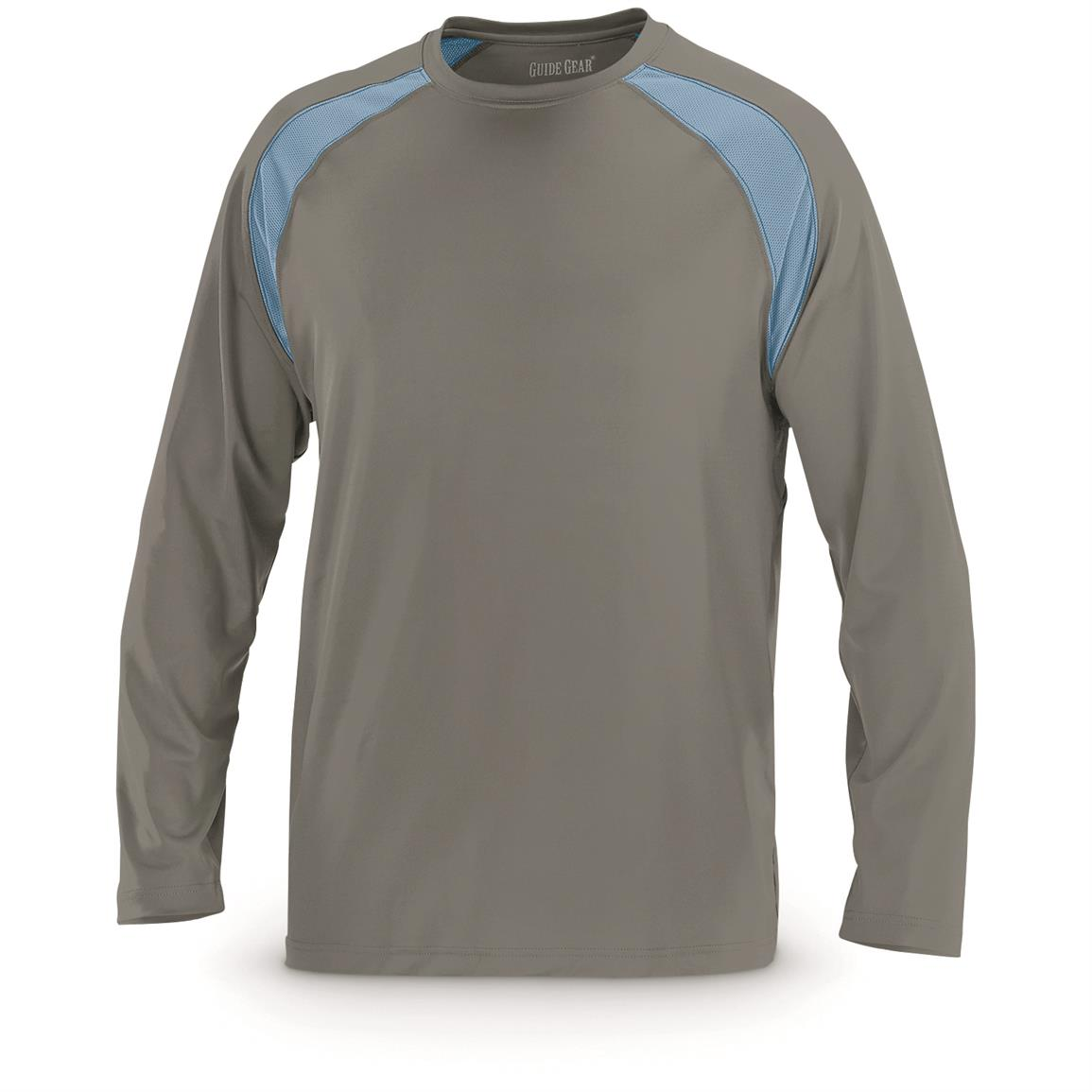 Guide Gear Men's Performance Fishing Long Sleeve T-Shirt, Charcoal