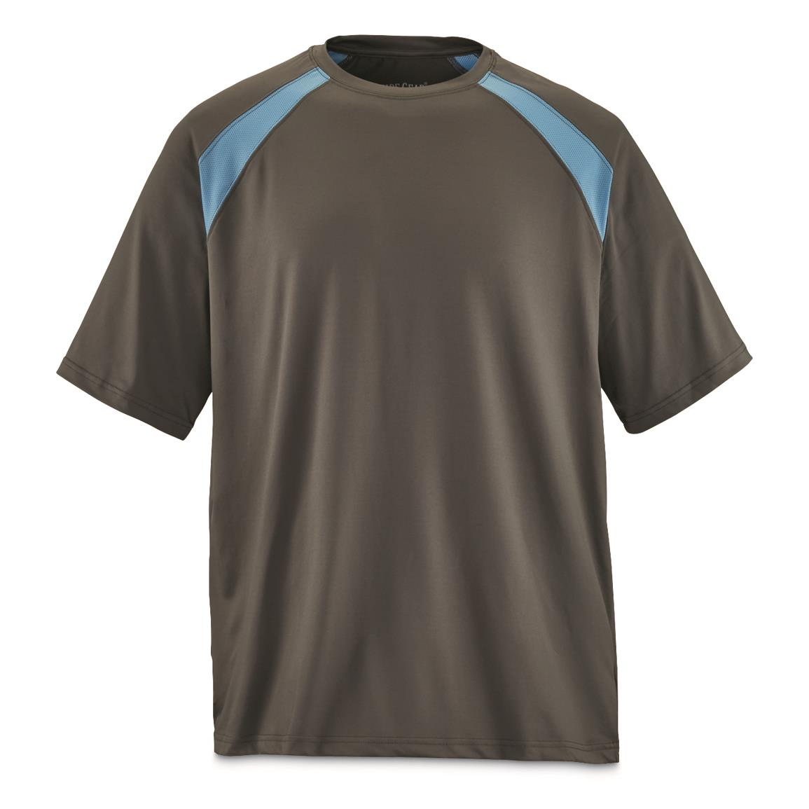Guide Gear Men's Performance Fishing Short Sleeve T-Shirt, Charcoal