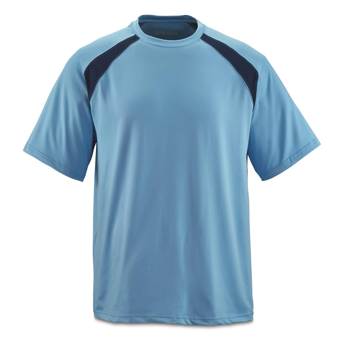 Guide Gear Men's Performance Fishing Short Sleeve T-Shirt, Light Blue