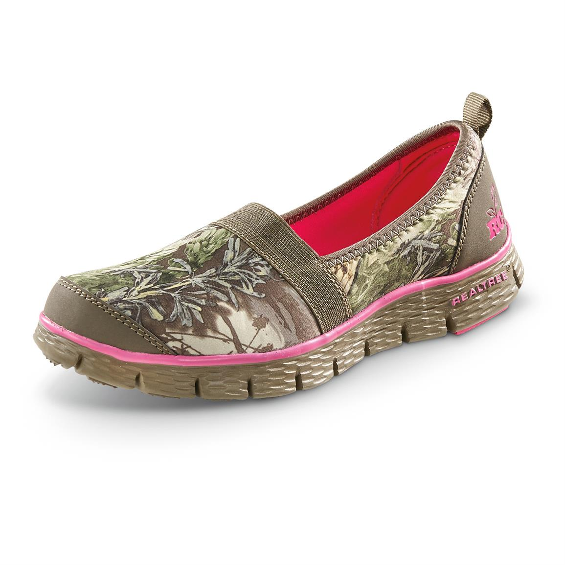 Realtree Girl Sophie Slip-on Shoes, Khaki / Realtree MAX-1