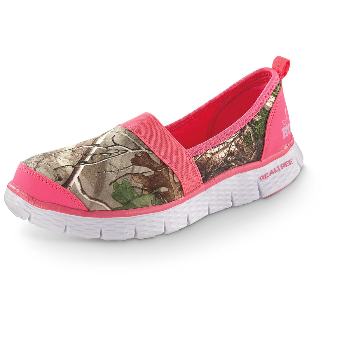 Realtree Girl Sophie Slip-on Shoes, Hot Pink / Realtree Xtra Green