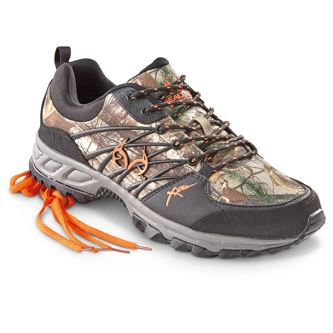 Realtree Men's Bobcat Sneakers, Black / Realtree Xtra