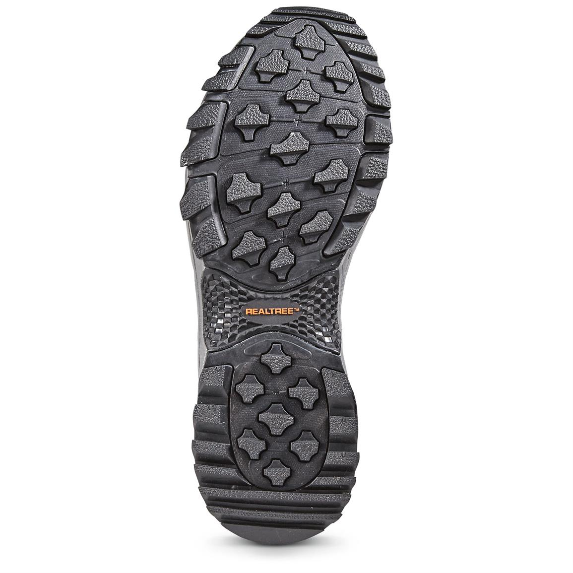 High-traction, non-marking rubber outsole