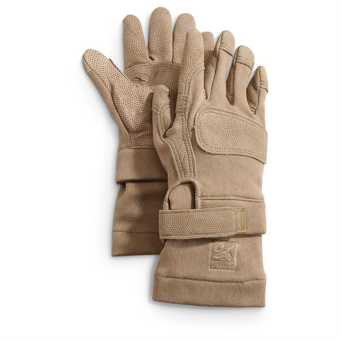 U.S. Military Surplus FROG Leather/Aramid Gloves, New