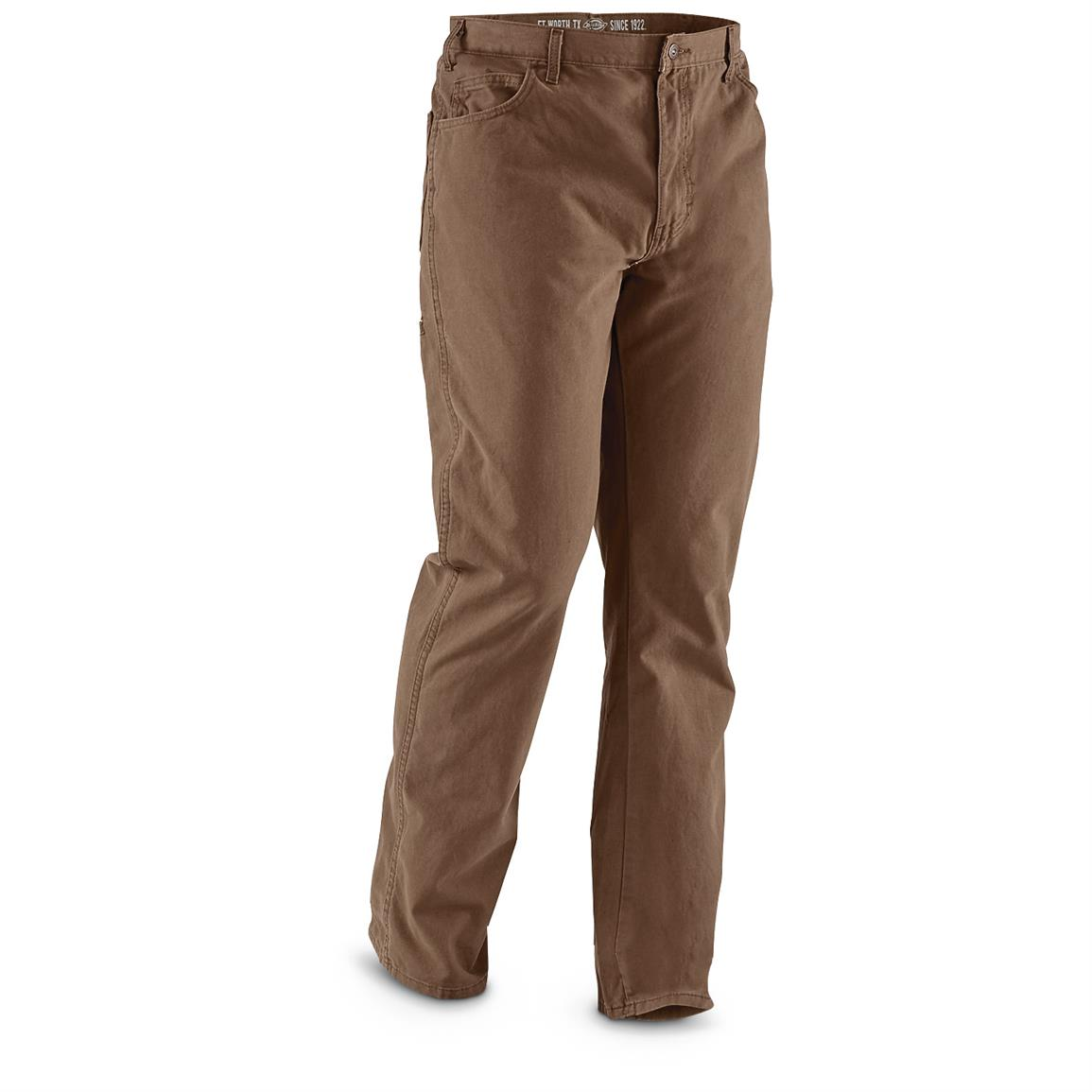 Dickies Men's 6-pocket Pants, Irregulars, Brown