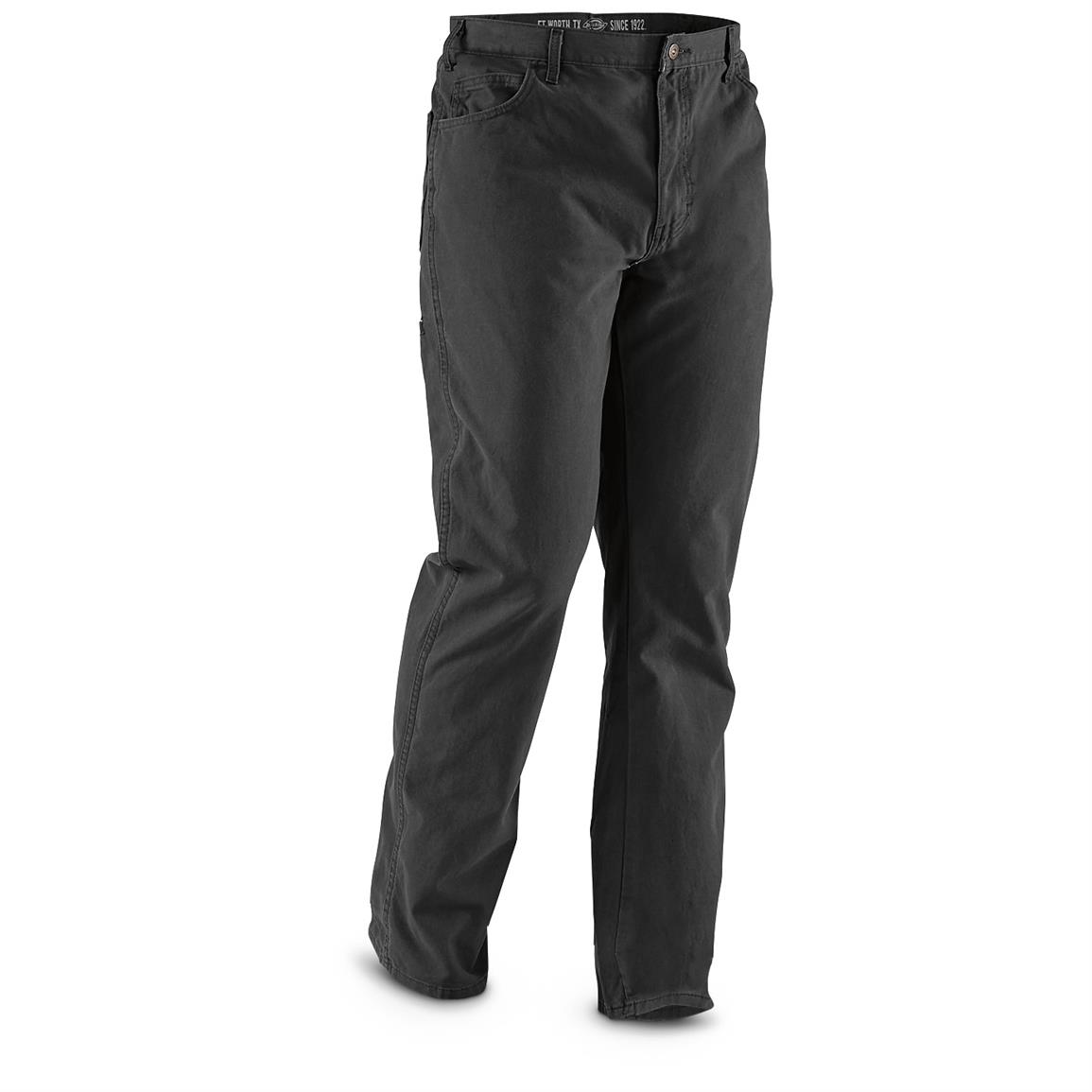Dickies Men's 6-pocket Pants, Irregulars, Black