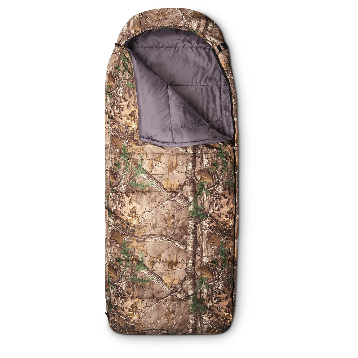Guide Gear Hooded Realtree Camo Sleeping Bag, 0 Degree