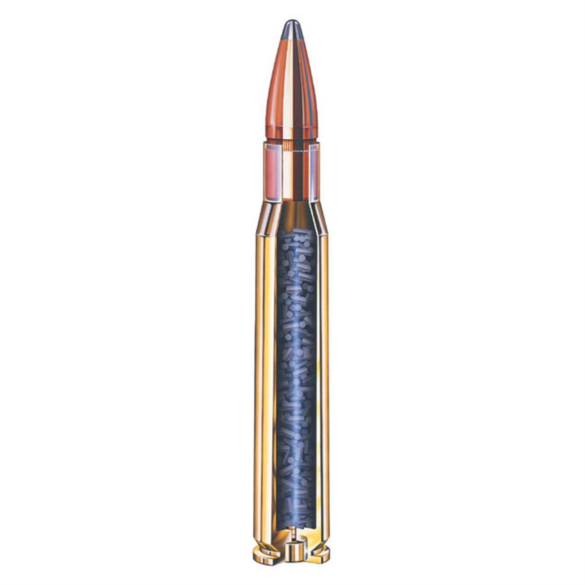 Loaded with Interlock bullets that penetrate deeply while giving you great expansion