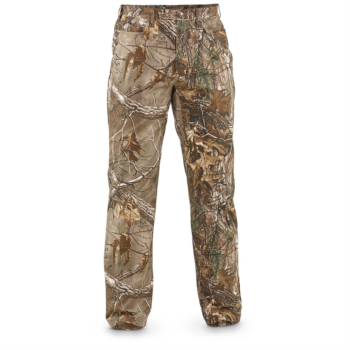Guide Gear Camo 5-Pocket Jeans, Realtree Xtra