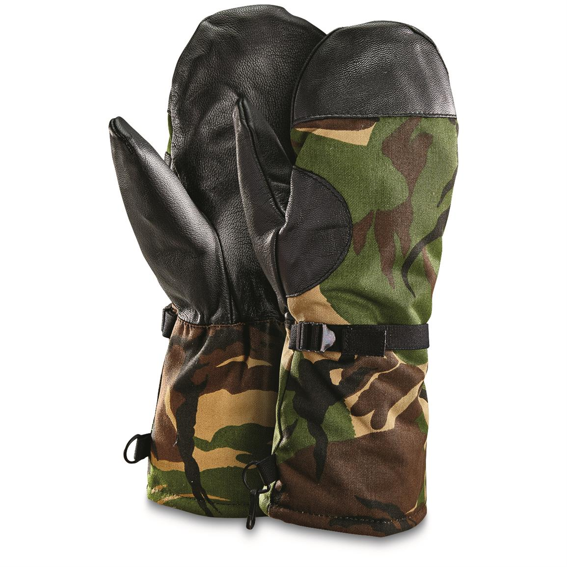 Dutch Military Surplus Mitts, 2 Pack, New