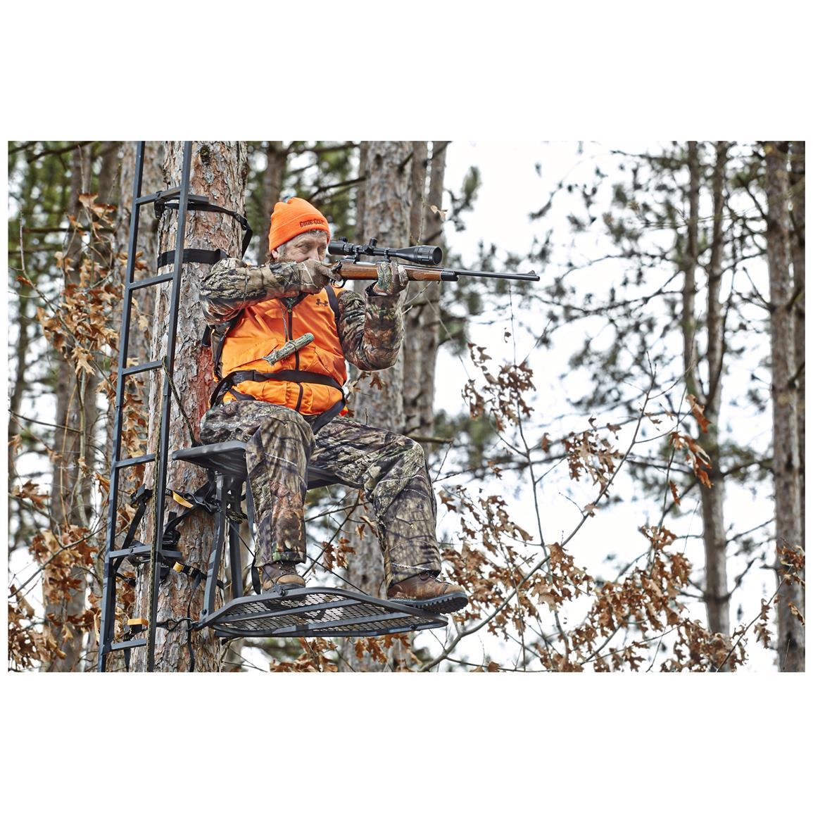 Includes full-body safety harness