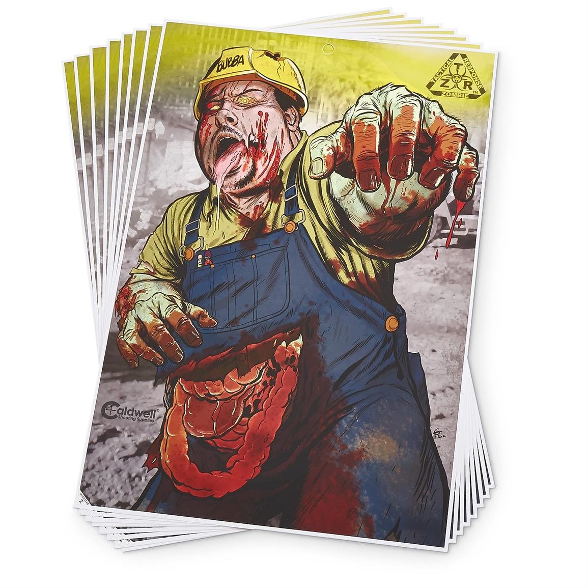 8-Pk. of Zombie Pure Evil Flake-Off Targets