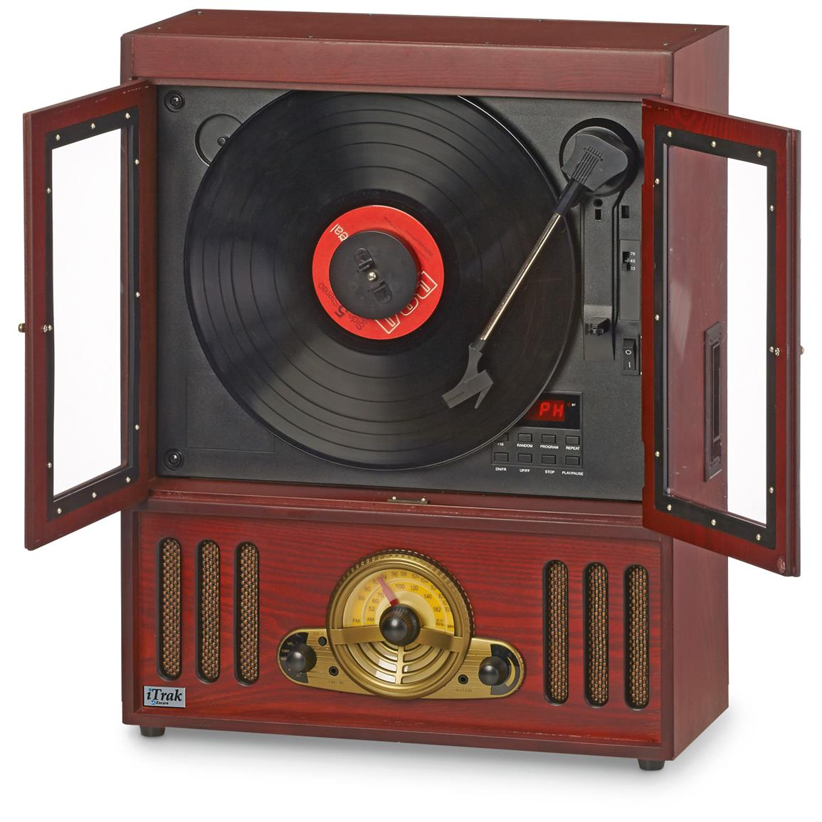 3-speed turntable with auto stop
