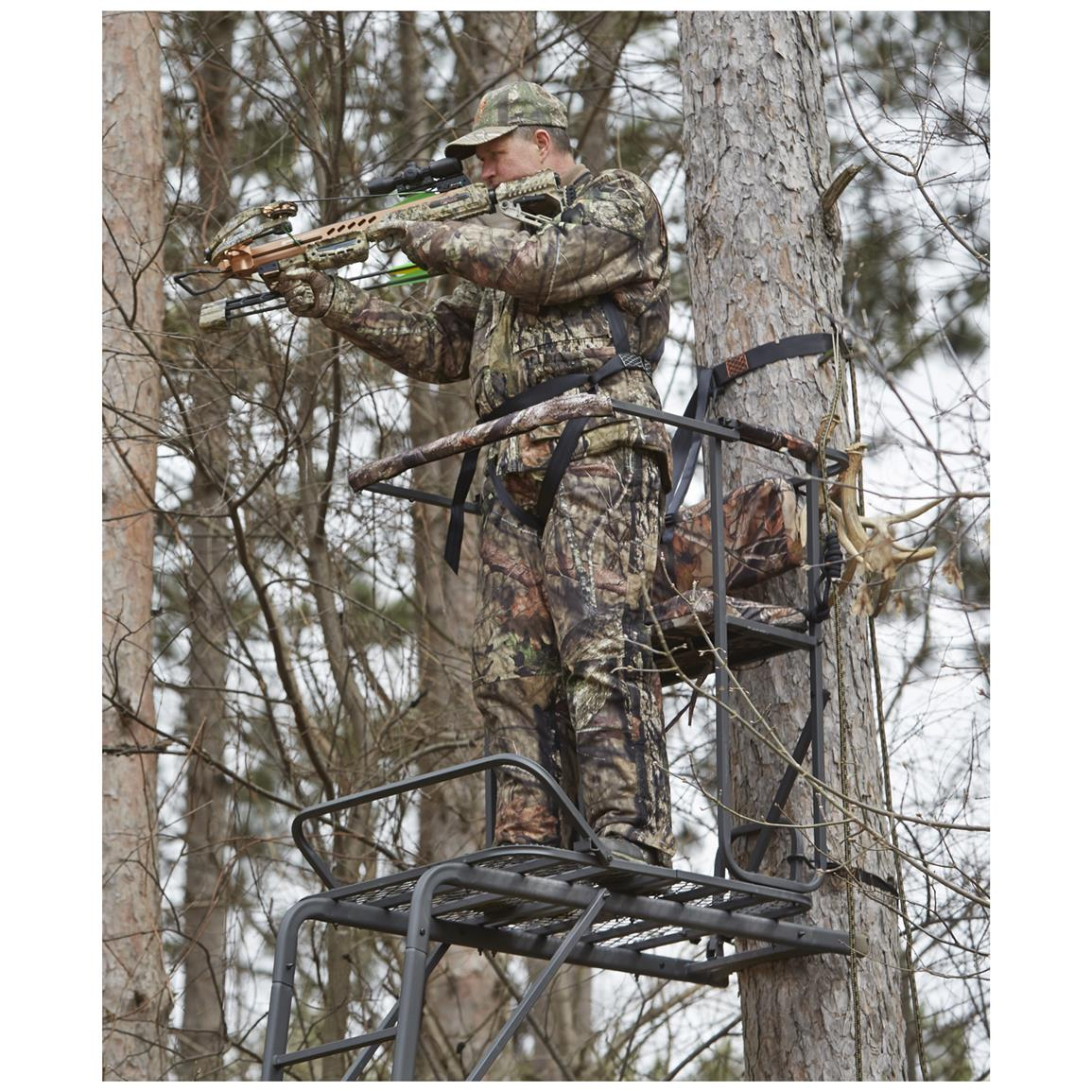 Guide Gear Oversized 18' Man & 1/2 Ladder Tree Stand