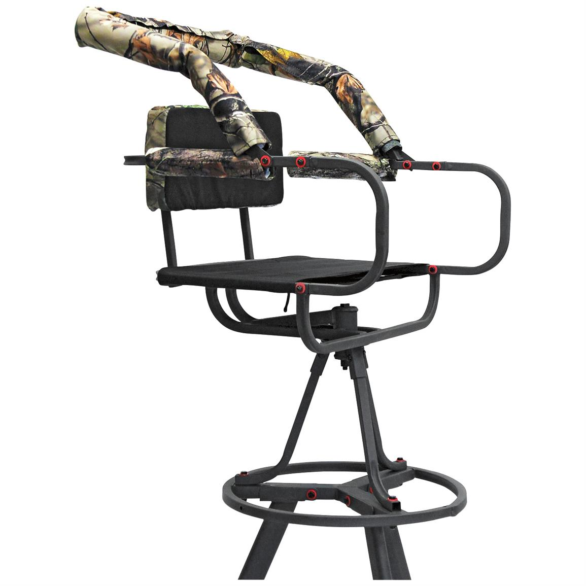 360 Degree swivel seat allows for comfortable shooting in all directions