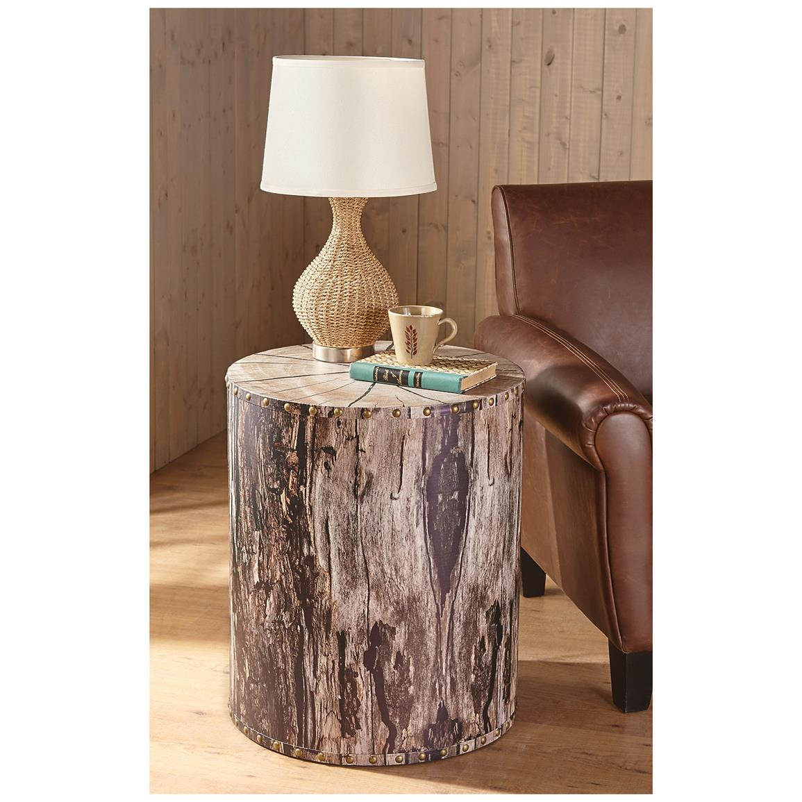 Tree Side Table ~ Castlecreek tree trunk end table  living room at