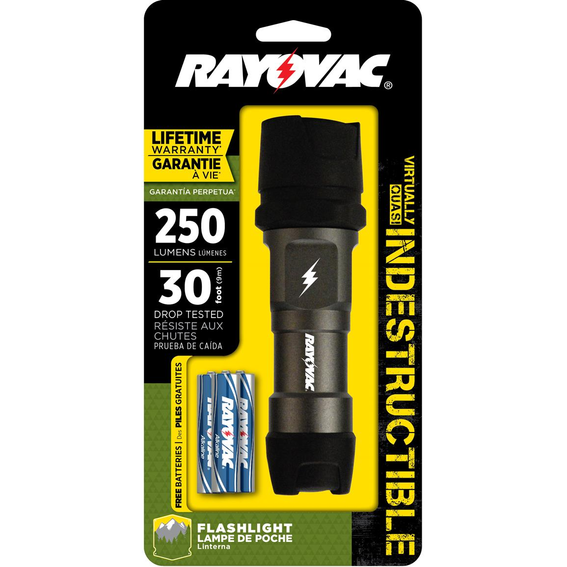 Rayovac Indestructible 250 Lumen LED Flashlight