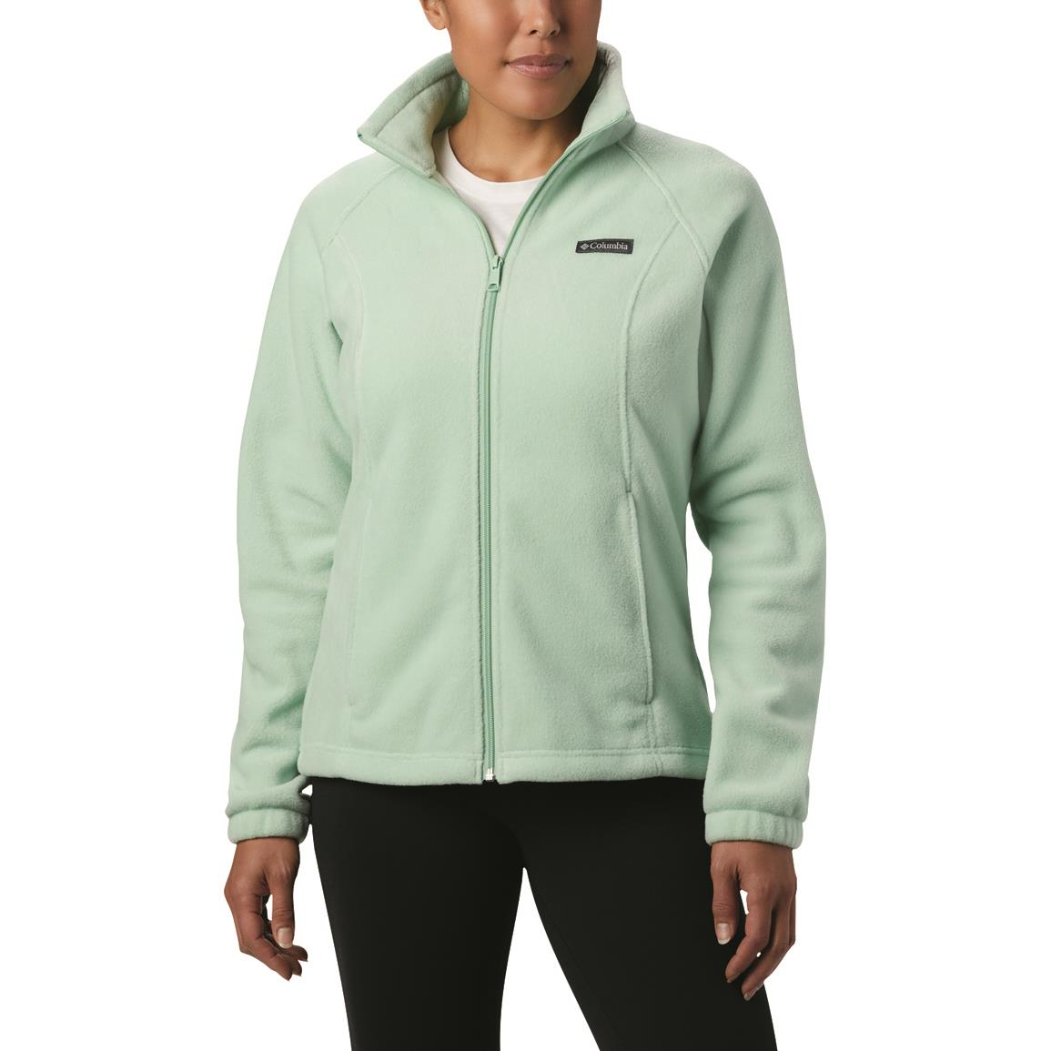 Columbia Women's Benton Springs Full Zip Fleece Jacket, New Mint