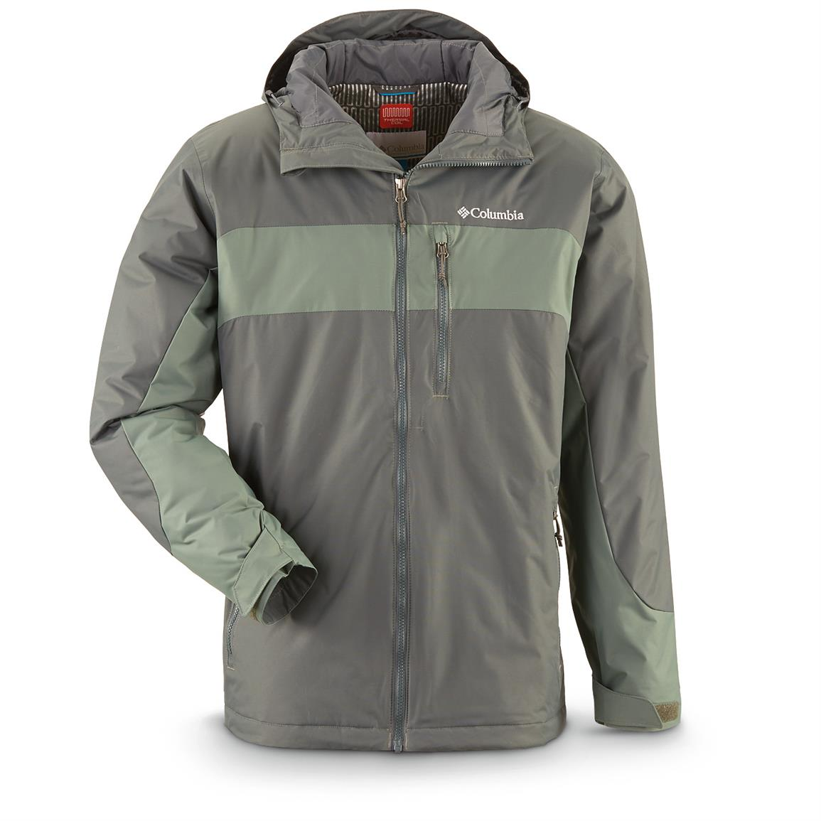 Columbia Men's Winterswept Insulated Waterproof Jacket, Deep Green / Pond