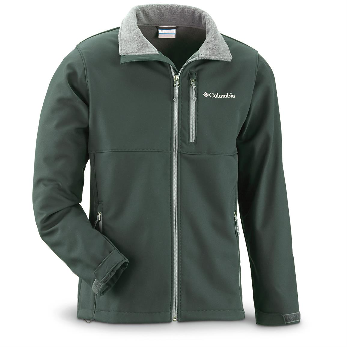 Columbia Men's Ascender Softshell Jacket, Wildwood Green