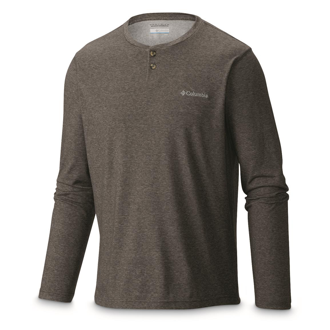 Columbia Men's Thistletown Park Henley, Charcoal