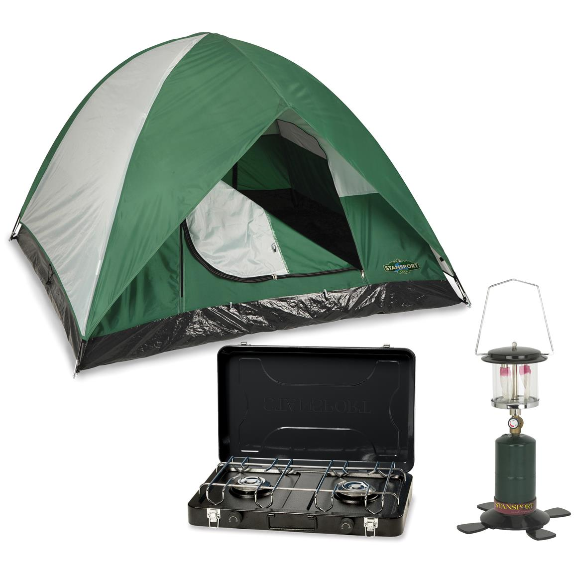 Stansport Ultimate Camping Package with Lantern, Stove and Tent