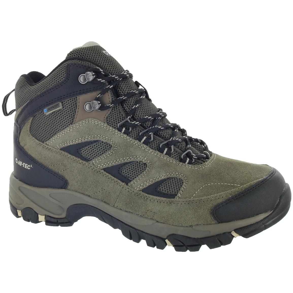 Hi-Tec Logan Men's Hiking Boots, Waterproof, Smoky Brown / Olive