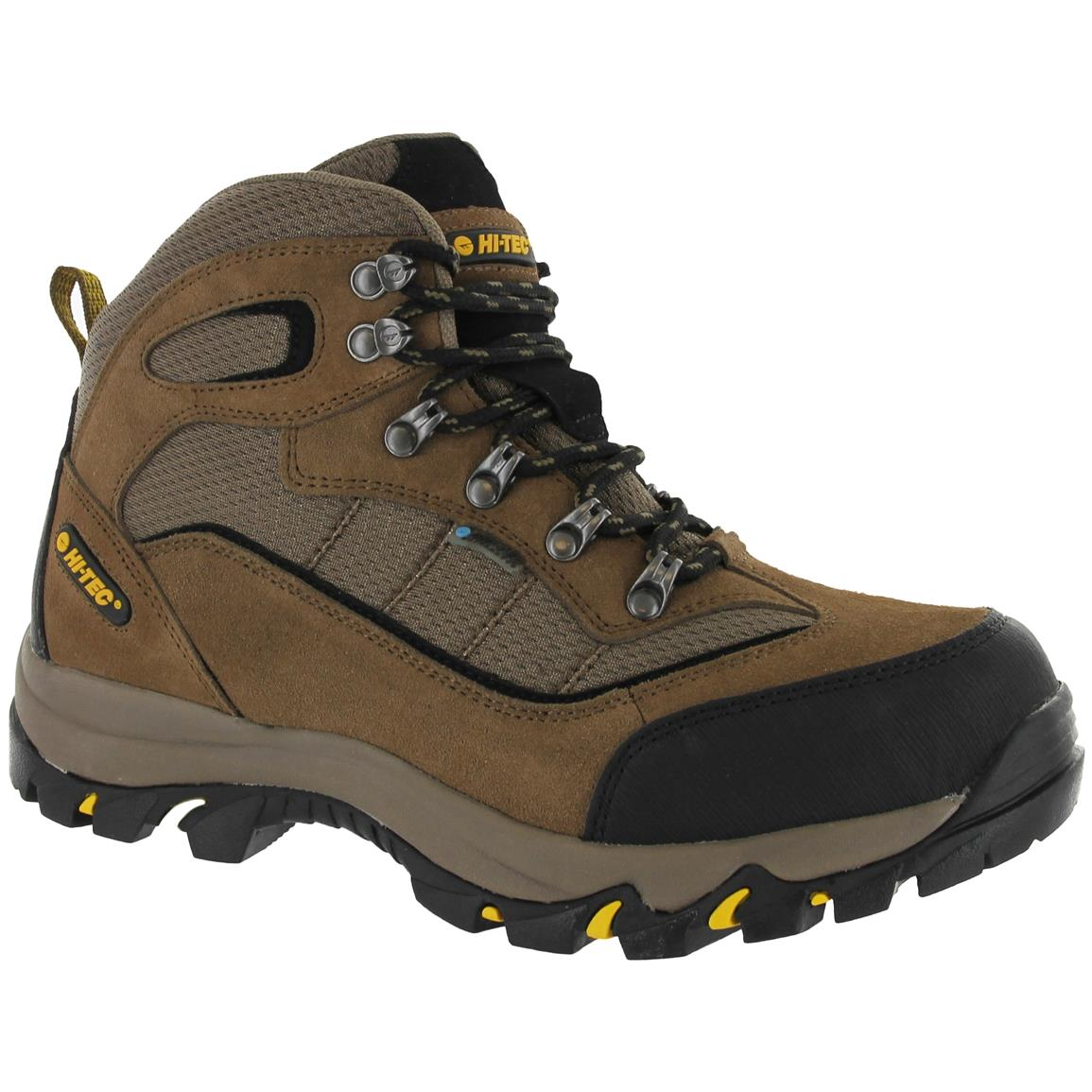 Hi-Tec Skamania Men's Mid Hiking Boots, Waterproof, Brown / Gold
