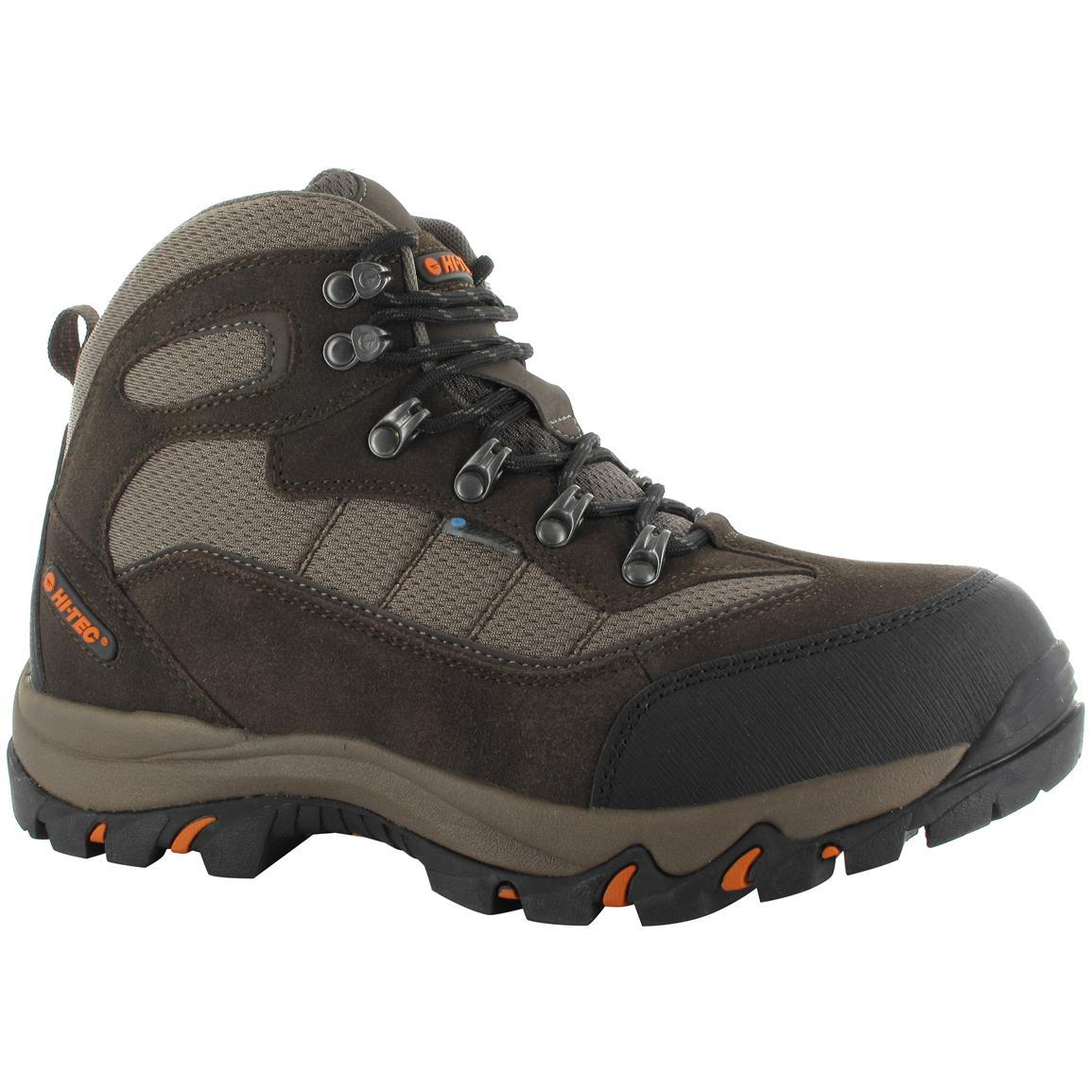Hi-Tec Skamania Men's Mid Hiking Boots, Waterproof, Chocolate / Dark Taupe