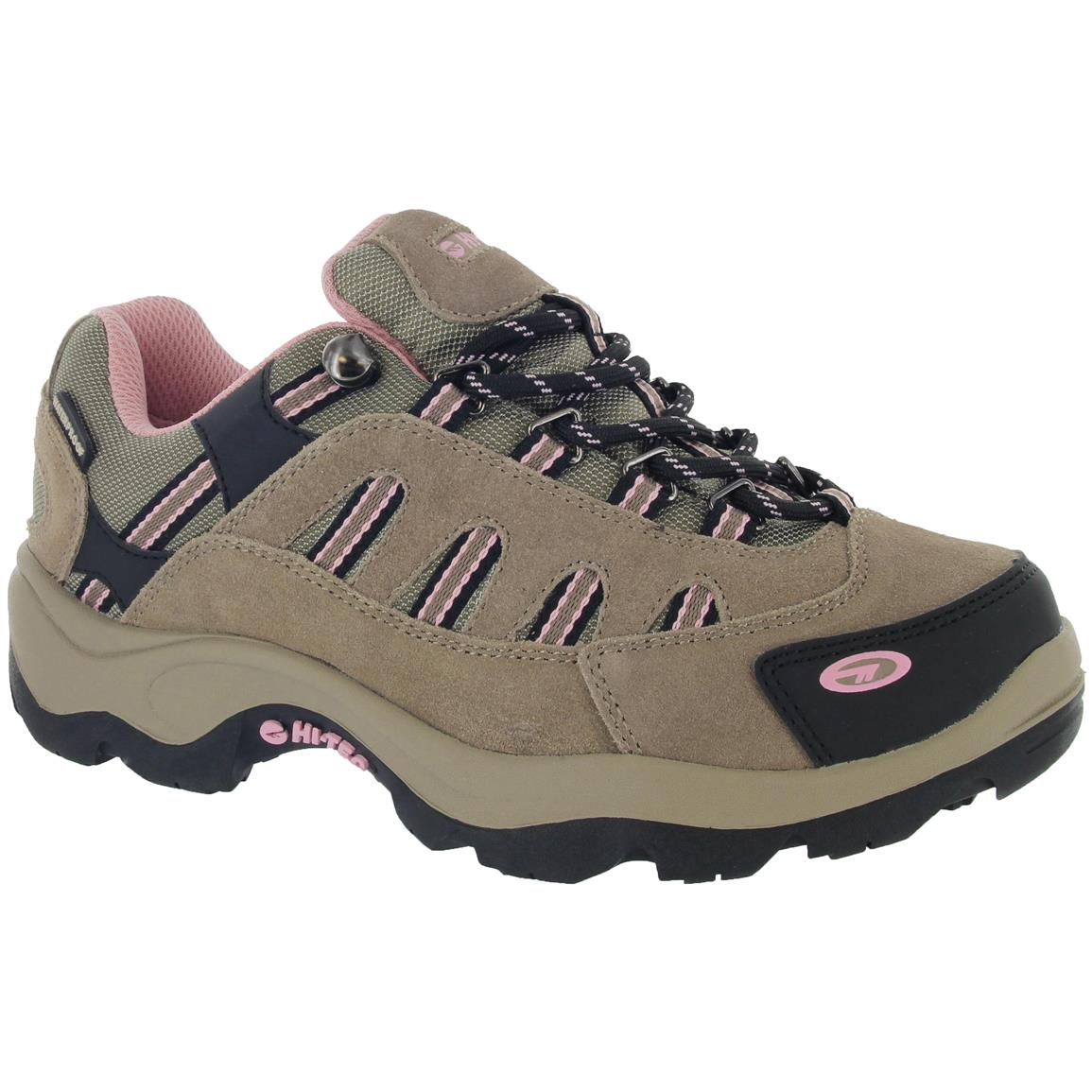 Hi-Tec Bandera Women's Low Hiking Boots, Waterproof, Taupe / Blush