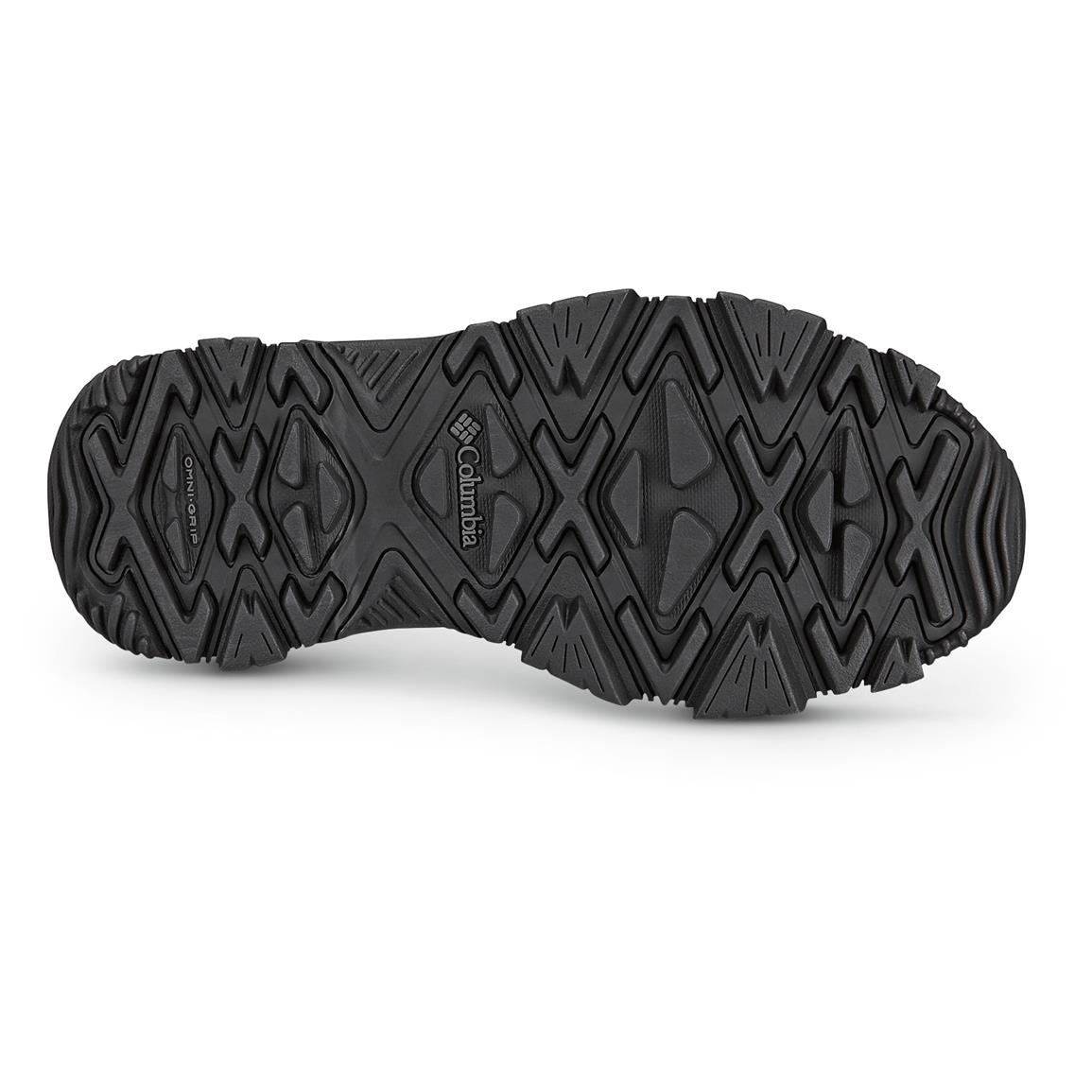 Omni-Grip non-marking outsole with winter-specific lug pattern digs into snow