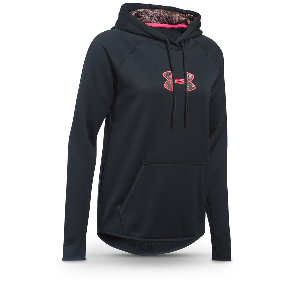 Under Armour Women's Icon Caliber Hoodie, Anthracite / Realtree