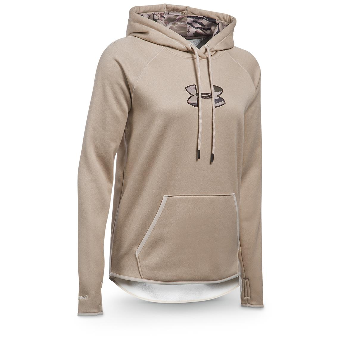 Under Armour Women's Icon Caliber Hoodie, Oatmeal