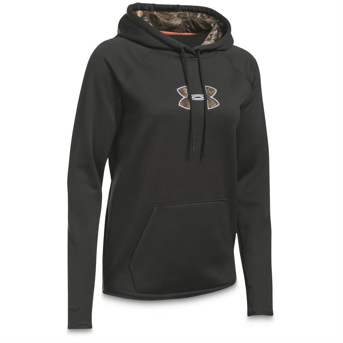 Under Armour Women's Icon Caliber Hoodie, Anthracite / Realtree / Lavender