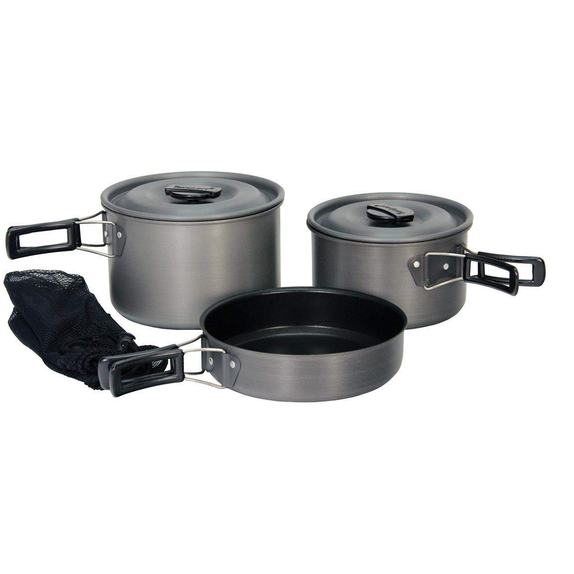 Texsport Hiker Hard Anodized Camping Cookware Set