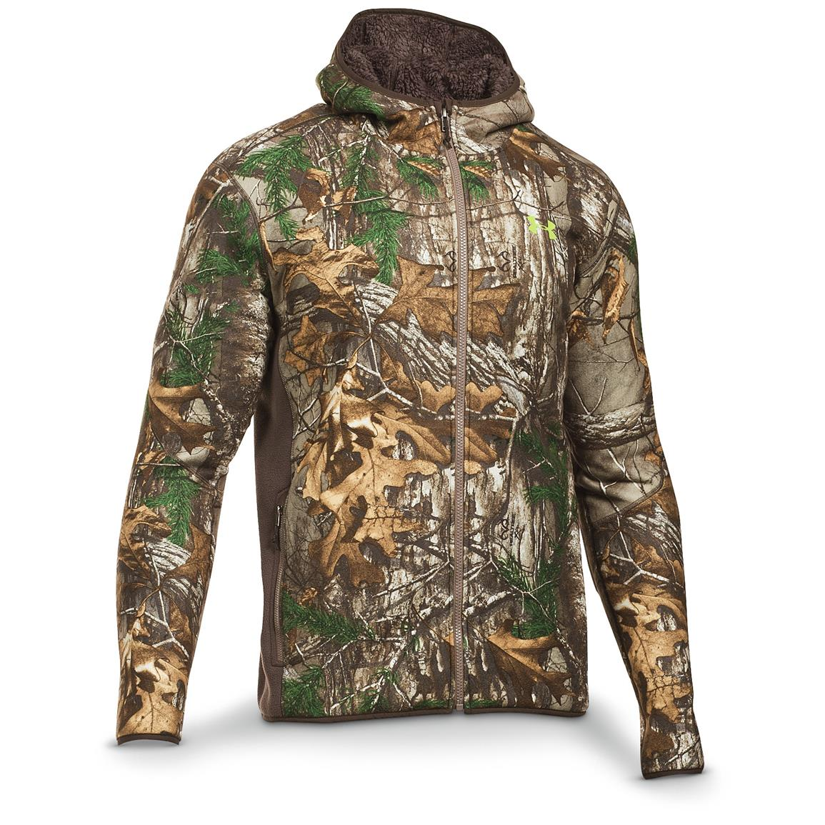 Under Armour Men's Stealth Hoodie, Velocity / Realtree Xtra
